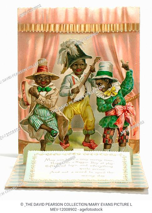 Three musicians on a Christmas card. (2 of 2)