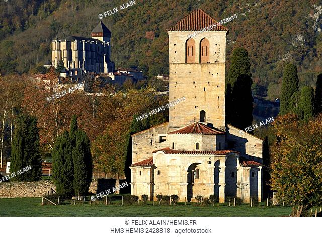 France, Haute Garonne, Comminges, Saint Bertrand de Comminges, Saint Just de Valcabrère dated 12th century, and the Cathedral of St Mary dated 12th 15th 16th...