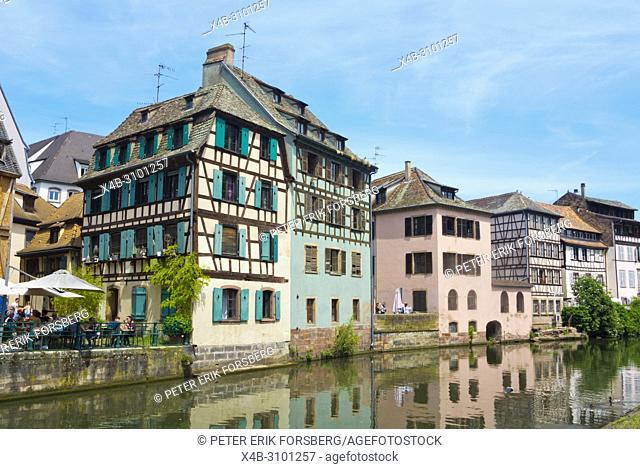 River Ill, La Petite France, Strasbourg, Alsace, France