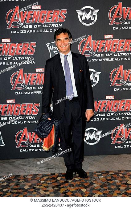 tiberio tiberi; tiberi; TV presenter ; celebrities; 2015;rome; italy;event; red carpet ; avengers, age of ultron