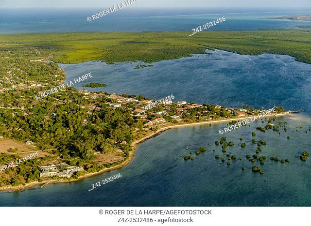 Aerial view of Ibo Island. Mozambique
