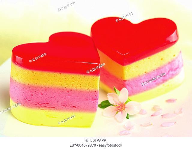Heart-Shaped Cakes Called Torta Helada