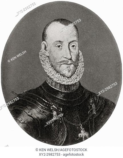 Frederick II, 1534 - 1588. King of Denmark and Norway. From Hutchinson's History of the Nations, published 1915