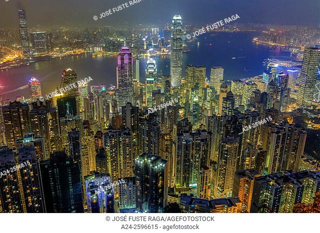 Hong Kong City, Central District, Victoria Harbour