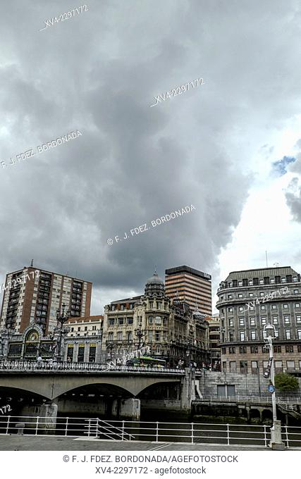 Building of Riverside in Bilbao city. Biscay, Basque Country, Spain