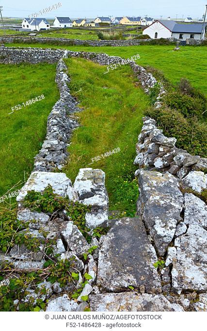 Teampall Bheanáin church  Inishmore Island, Aran Islands, Galway County, West Ireland, Europe