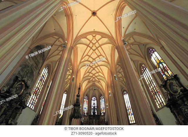 Czech Republic, Moravia, Olomouc, St Maurice Church, interior,