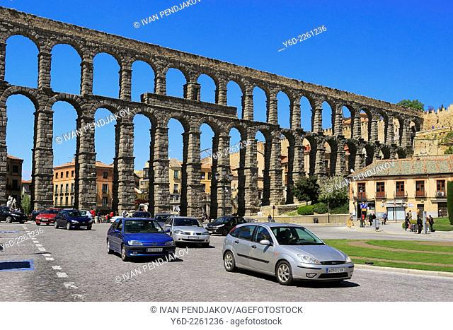 Roman Aqueduct of Segovia, Castile and Leon, Spain
