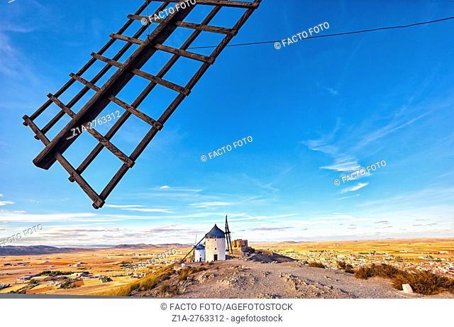 Windmills of Consuegra. Don Quixote route. Toledo. Castile-La Mancha. Spain