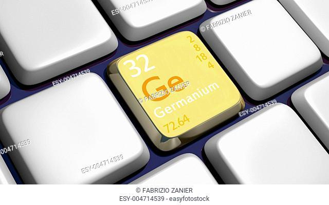 Keyboard detail with Germanium element