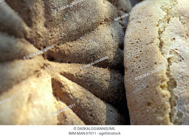 Loafs of bread Greece, Europe