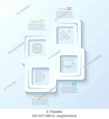 Vector modern creative infographics with thin line flat icons. Business background