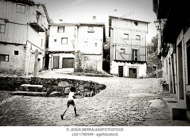 Girl in La Alberca, Salamanca province, Spain