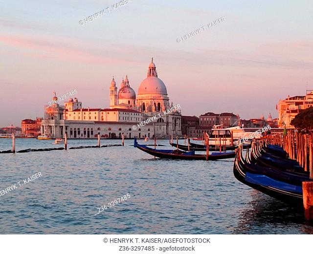 The church of Santa Maria della Salute at sunrise, Venice, Italy