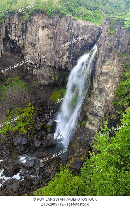 Svartifoss waterfall in the Skaftafell region of Southern Iceland