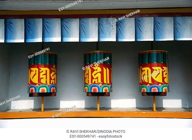 Tibetan prayer wheel , Mcleodganj , Himachal Pradesh , India