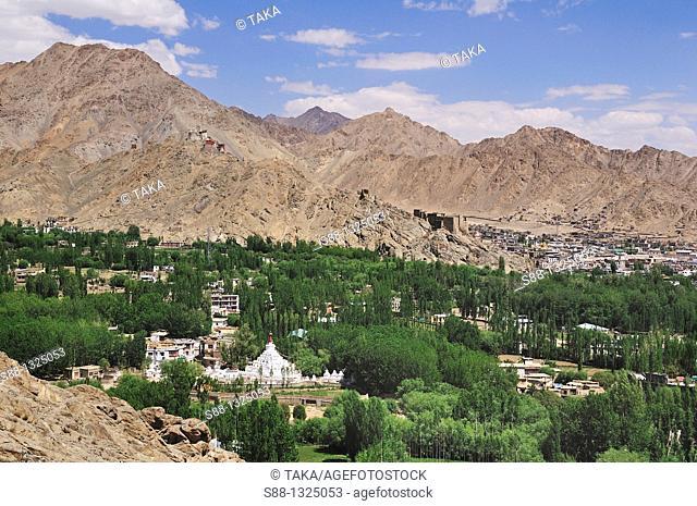 View in Leh. Ladakh, Jammu and Kashmir, India