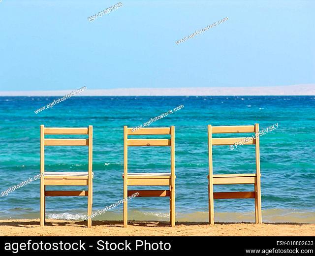 chairs. sea