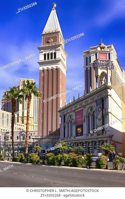 The Venetian St Mark's Campanile (bell tower) in Las Vegas, Nevada
