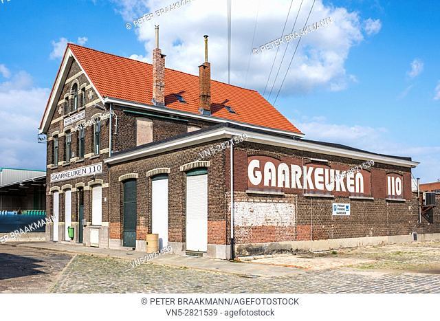 ANTWERP, BELGIAN - SEPTEMBER 21: Gaarkeuken 110 at the port of Antwerp on September 21, 2014 in Belgian. This was founded in the second half of the 19th century...
