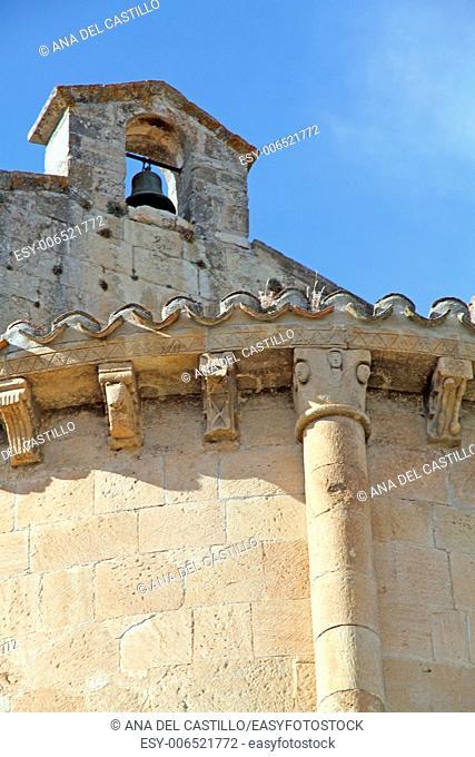 San Salvador church in Town of Sepulveda, Segovia (Spain)