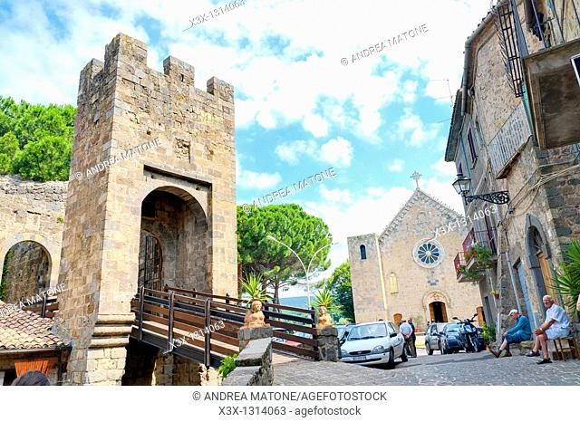 Castle of Bolsena  Rocca Monaldeschi  Bolsena, Latium, Italy
