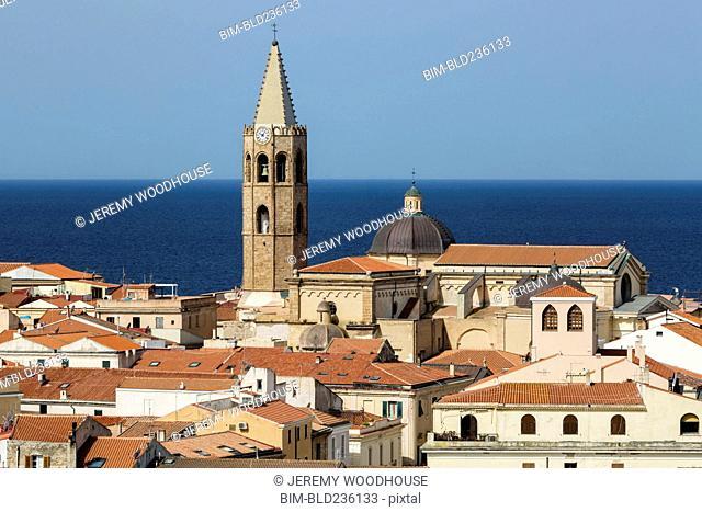 Tower at waterfront, Alghero, Provincia di Sassari, Italy