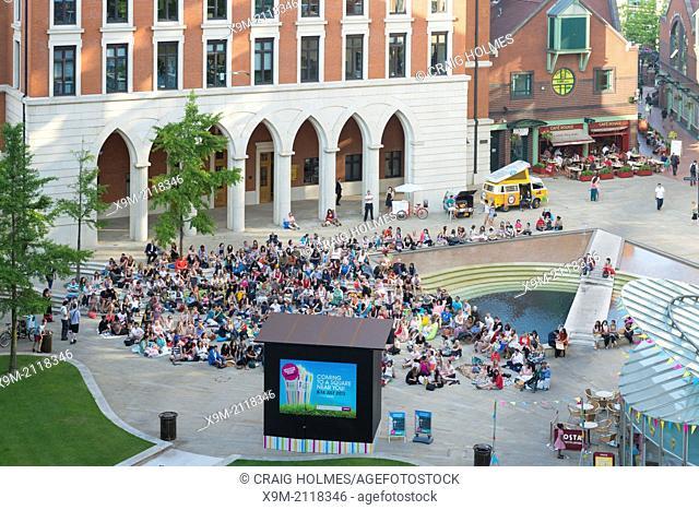 The Brindleyplace Film Festival, Birmingham, West Midlands, England, UK