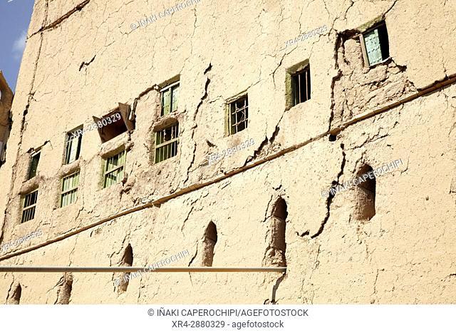 Architecture in the historic town of Al Hamra, Oman