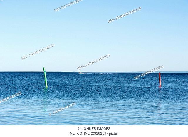 Buoys on sea