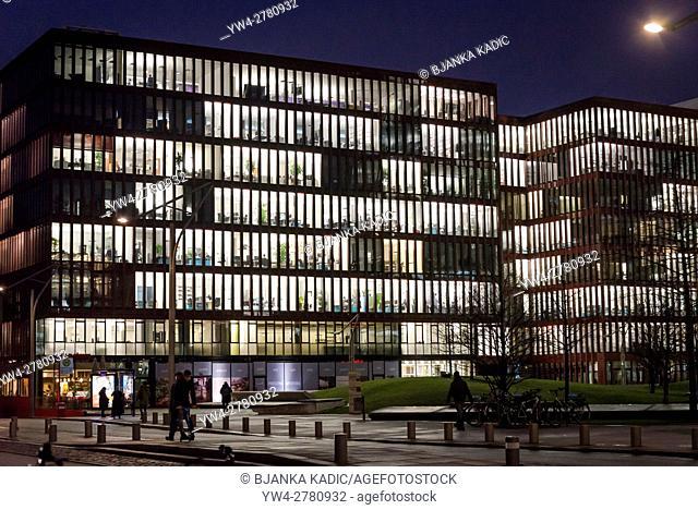 Modern office architecture in HafenCity, Hamburg, Germany