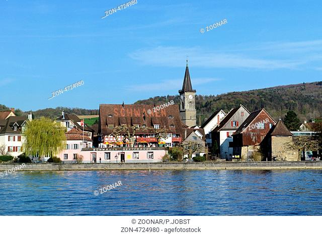 Blick auf Mammern am Untersee / View of Mammern at the Untersee