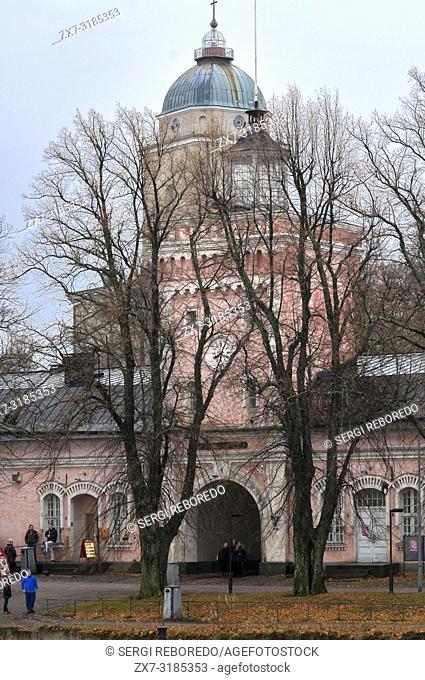 Suomenlinna church in the island of Suomenlinna Sveaborg, Helsinki, Finland