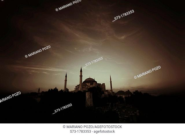 Exterior of Saint Sophia Church, Istanbul , Turkey