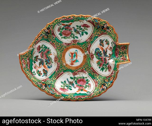 Dish. Date: ca. 1860-66; Geography: Made in China; Culture: Chinese, for American market; Medium: Porcelain; Dimensions: Diam. 7 3/8 in. (18
