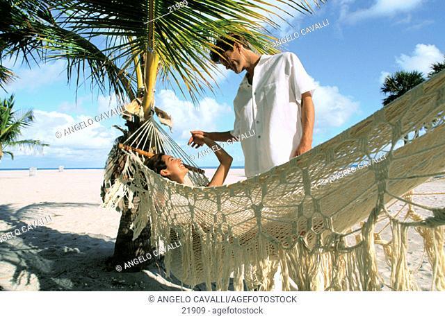 Couple on the beach, Caribbean