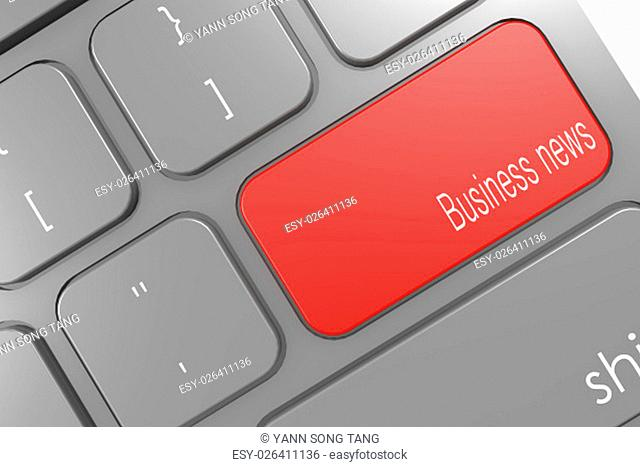 Business news word button on black computer keyboard image with hi-res rendered artwork that could be used for any graphic design
