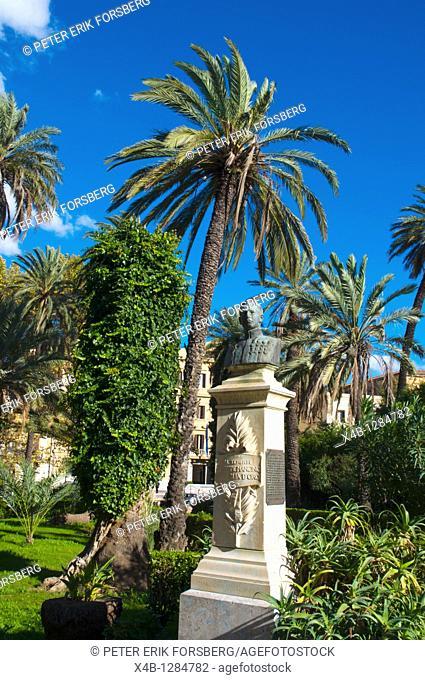 Villa Bonanno park at Piazza Vittoria square central Palermo Sicily Italy Europe
