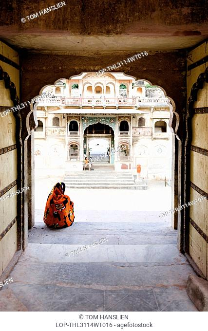 India, Rajasthan, Jaipur. Galta Temple at Jaipur