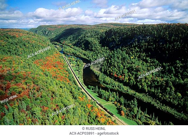 Aerial of Agawa Canyon Wilderness Park, Ontario, Canada