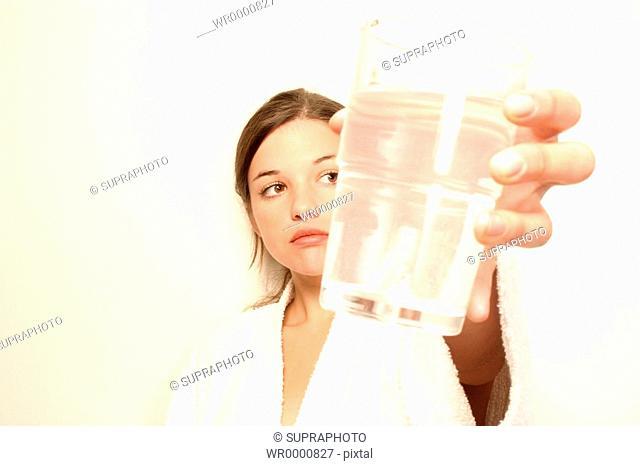 Teenage girl water