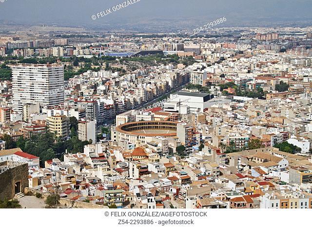 Alicante City Panorama, Comunidad Valenciana, Spain