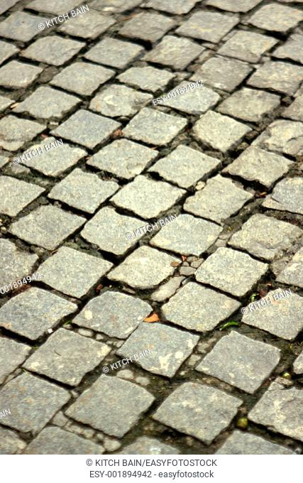 A shot of drive way cobble stones