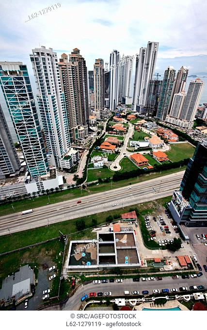 Overview on Panama City, Panama