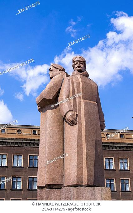 Soviet era monument for the Latvian Riflemen, Riga, Latvia, Europe