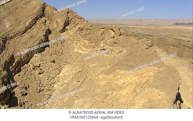 Aerial footage of Ramon Crater