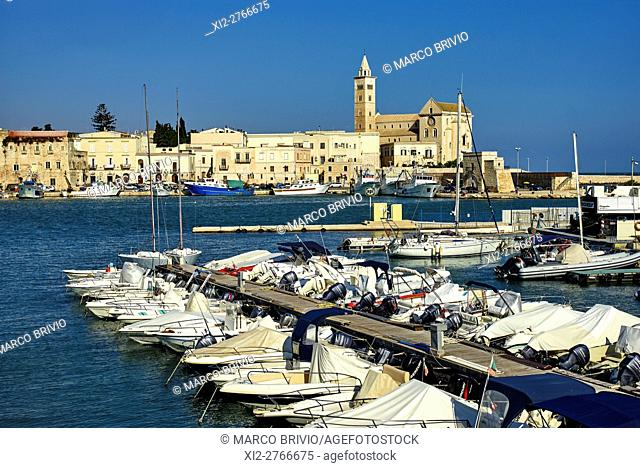 Trani is a seaport of Apulia, in southern Italy, on the Adriatic Sea, 40 kilometres (25 mi) by railway West-Northwest of Bari