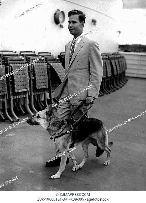 Dec. 09, 1965 - Blind American student parted from his guide dog owing to British quaritine regulations: Among the arrivals at Southampton yesterday on the s
