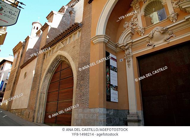 Mudejar tower of San Pedro and church Teruel town Aragon Spain