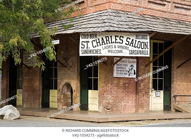 St  Charles Saloon in the Columbia State Historic Park, California Gold Country, Northern California, USA